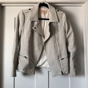 Black and white biker jacket